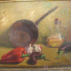 Arte: ÓLEO S/LIENZO DE ROSENDO GONZÁLEZ CARBONELL, CON MARCO DE ÉPOCA EN MADERA. DIMENSIONES.- 55X47 CMS.. Lote 26268889