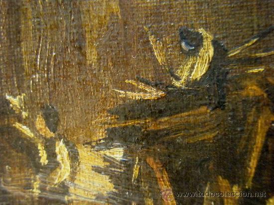 Arte: PAISAJE CON CARRETA Y FIGURAS O/LIENZO AÑOS 30. OLEO SOBRE LIENZO 33X40 CM - Foto 3 - 26524847