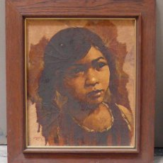 Arte: RETRATO DE NIÑA, ÓLEO SOBRE TABLEX FIRMADO, MARCO: 40 X 34 CM.. Lote 26816883