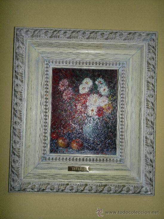 CUADRO FLORAL DEL PINTOR ESTAÑOL MADRID (Arte - Pintura - Pintura al Óleo Moderna sin fecha definida)
