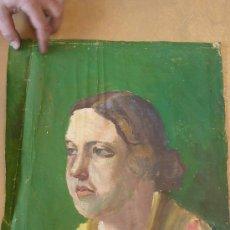 Arte: ANONIMO OLEO SOBRE TELA. DAMA. DE APROXIMADAMENTE AÑOS 40S 50S. FIRMADO J.B.. Lote 27003378