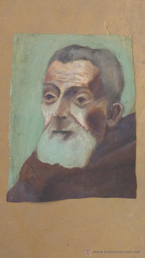 ANONIMO OLEO SOBRE TELA. ANCIANO. DE APROXIMADAMENTE AÑOS 40S 50S. (Arte - Pintura - Pintura al Óleo Moderna sin fecha definida)