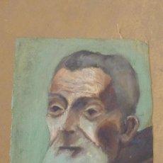 Arte: ANONIMO OLEO SOBRE TELA. ANCIANO. DE APROXIMADAMENTE AÑOS 40S 50S.. Lote 27003428