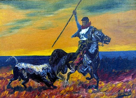 TOROS BRAVOS (Arte - Pintura - Pintura al Óleo Contemporánea )