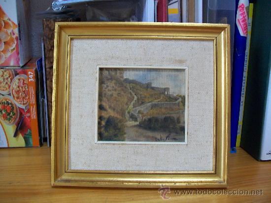 OLEO DE M. BALLESTER. 14,3X12,2 CM. (Arte - Pintura - Pintura al Óleo Contemporánea )