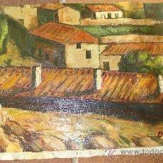 Arte: PINTURA AL OLEO SOBRE LIENZO, SIN BASTIDOR. Lote 27725384