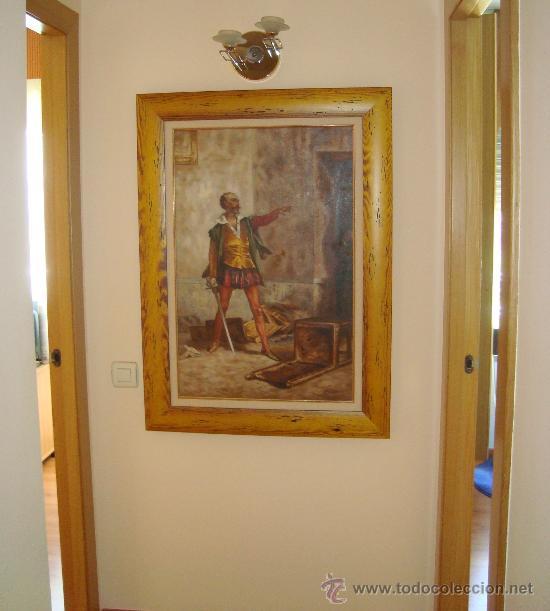 PINTURA AL OLEO, DON QUIJOTE DE LA MANCHA, CERVANTES,RICARDO BALACA.OBRA UNICA Y EXCLUSIVA (Arte - Pintura - Pintura al Óleo Moderna sin fecha definida)