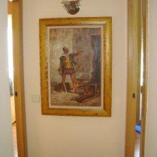 Arte: PINTURA AL OLEO, DON QUIJOTE DE LA MANCHA, CERVANTES,RICARDO BALACA.OBRA UNICA Y EXCLUSIVA. Lote 27870832