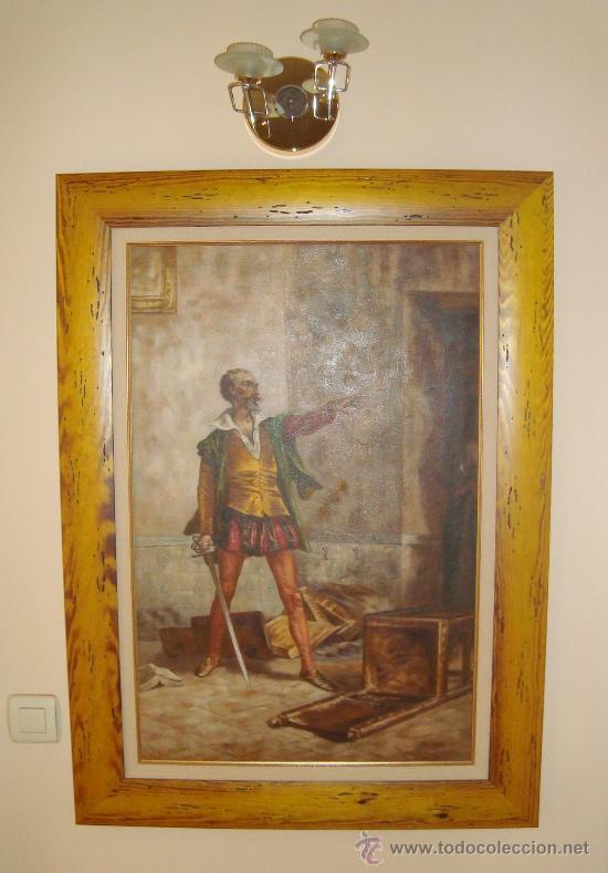 Arte: PINTURA AL OLEO, DON QUIJOTE DE LA MANCHA, CERVANTES,RICARDO BALACA.OBRA UNICA Y EXCLUSIVA - Foto 2 - 27870832