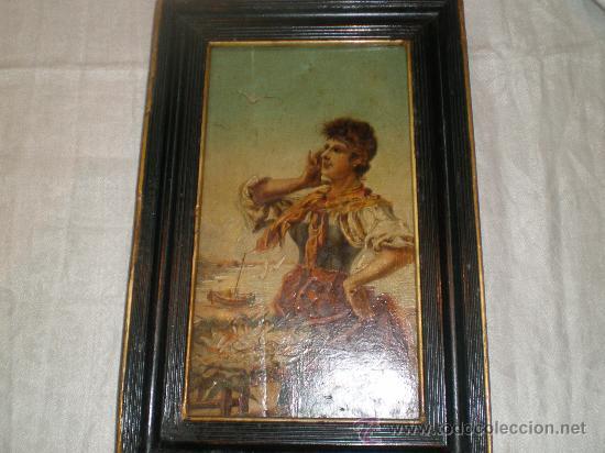 OLEO SOBRE TABLA PESCADERA (Arte - Pintura - Pintura al Óleo Antigua sin fecha definida)