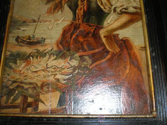 Arte: oleo sobre tabla pescadera - Foto 5 - 27892628