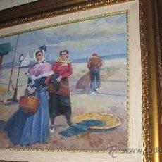 Arte: CUADRO DE PINTURA DE J. PUIGSEGUR 68 X 60 CON MARCO . Lote 27920425