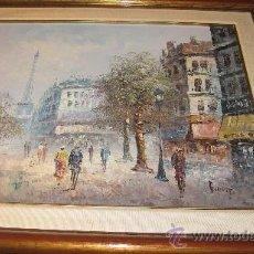 Arte: CUADRO DE PINTURA ESCUELA FRANCESA , 67 X 78 CON MARCO. PARIS . Lote 27924748