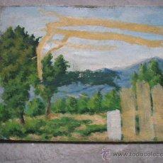 Arte: PAISAJE OLEO SOBRE CARTON AÑOS 50-60. Lote 27965117