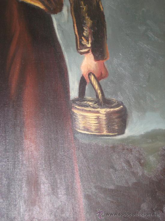 Arte: CUADRO DE PINTURA AL OLEO SOBRE LIENZO (LA AGUADORA DE GOYA REPLICA AÑOS 60 ) - Foto 5 - 54142666