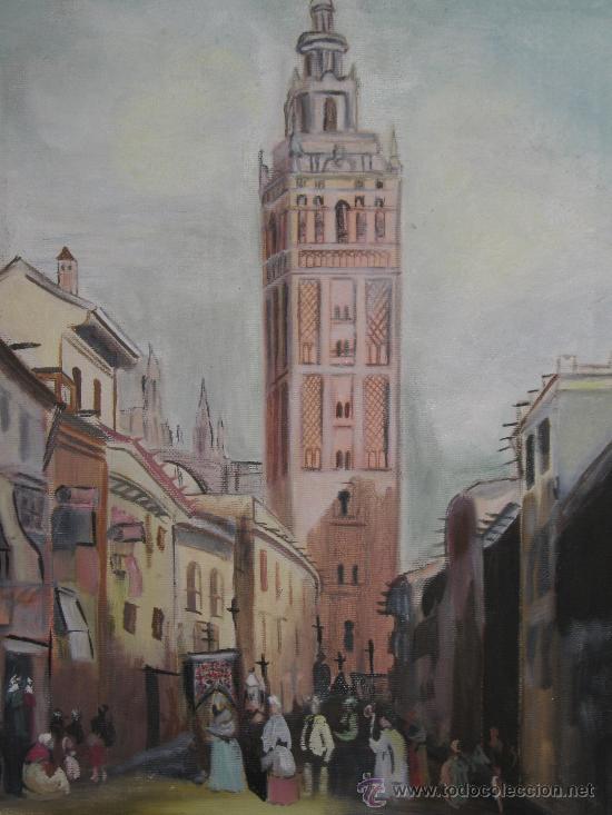 Cuadro pintado al oleo sobre lienzo firmado m comprar pintura al leo contempor nea en - Enmarcar lienzo ...