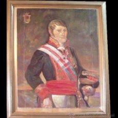 Arte: COPIA DEL CUADRO 'RETRATO DE UN GENERAL' LUIS LÓPEZ PIQUER. ÓLEO / LIENZO. SIN MARCO. Lote 28333687