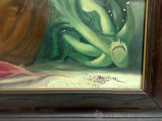 Arte: BODEGON, FIRMADO Y FECHADO AÑO 1911. OLEO /LIENZO , ESCUELA ESPAÑOLA - Foto 8 - 28536221