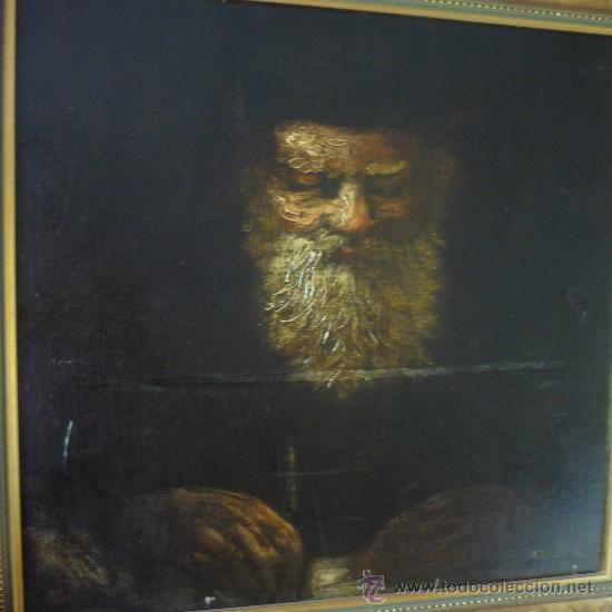 INQUIETANTE OLEO SOBRE LIENZO DE PRIMERA MITAD SIGLO XIX. (Arte - Pintura - Pintura al Óleo Moderna siglo XIX)