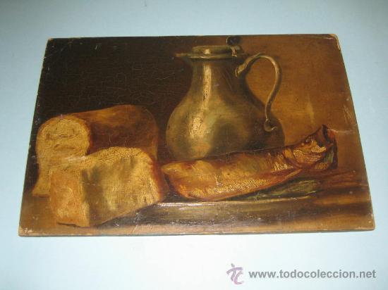 PINTURA ANTIGUA AL OLEO. BODEGON. SIN FIRMA. SIGLO XVIII-XIX (Arte - Pintura - Pintura al Óleo Antigua siglo XVIII)