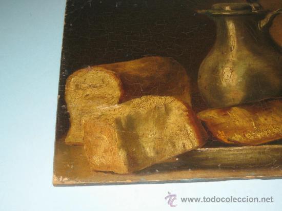 Arte: PINTURA ANTIGUA AL OLEO. BODEGON. SIN FIRMA. SIGLO XVIII-XIX - Foto 4 - 28630581