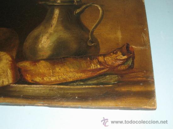 Arte: PINTURA ANTIGUA AL OLEO. BODEGON. SIN FIRMA. SIGLO XVIII-XIX - Foto 5 - 28630581