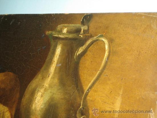 Arte: PINTURA ANTIGUA AL OLEO. BODEGON. SIN FIRMA. SIGLO XVIII-XIX - Foto 6 - 28630581