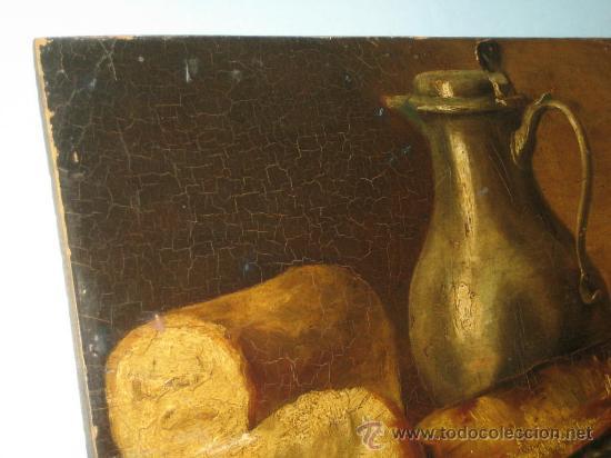 Arte: PINTURA ANTIGUA AL OLEO. BODEGON. SIN FIRMA. SIGLO XVIII-XIX - Foto 7 - 28630581