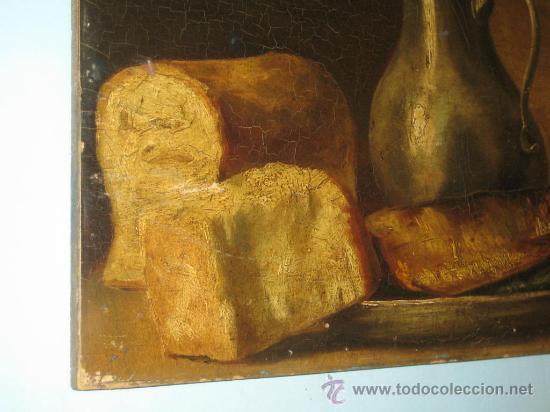 Arte: PINTURA ANTIGUA AL OLEO. BODEGON. SIN FIRMA. SIGLO XVIII-XIX - Foto 8 - 28630581