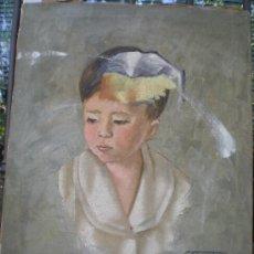 Arte: OLEO NIÑO FIRMADO. Lote 28648756
