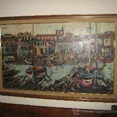 Arte: REBAJAS. GRAN OPORTUNIDAD. ÓLEO DEL PINTOR CATALÁN RODOLFO TUR DEL PUERTO DE LA ESCALA (GERONA).. Lote 28725480
