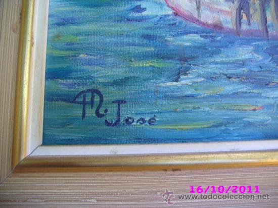 Arte: pintura marina oleo sobre lienzo firmado m jose - Foto 2 - 28909084