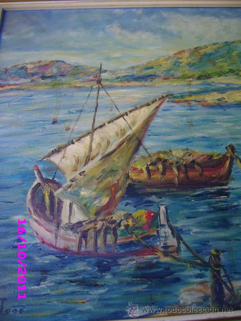 Arte: pintura marina oleo sobre lienzo firmado m jose - Foto 3 - 28909084