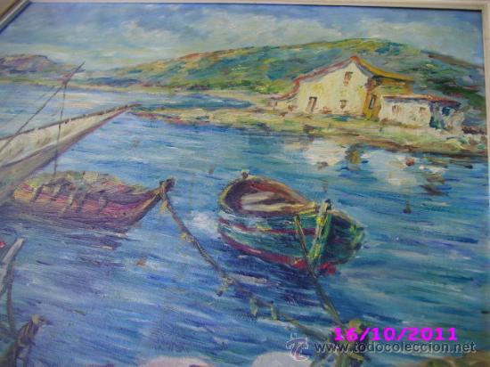 Arte: pintura marina oleo sobre lienzo firmado m jose - Foto 4 - 28909084