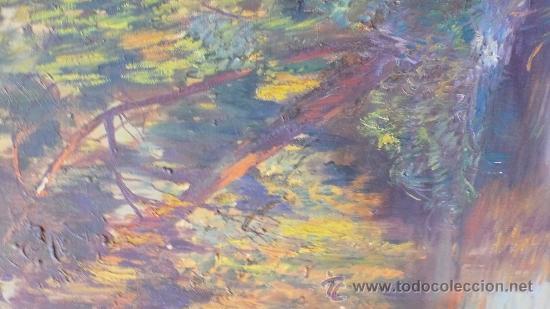 Arte: Ángel Soto. Paisaje, óleo sobre lienzo sin marco, 73x93 cm. - Foto 4 - 29065660