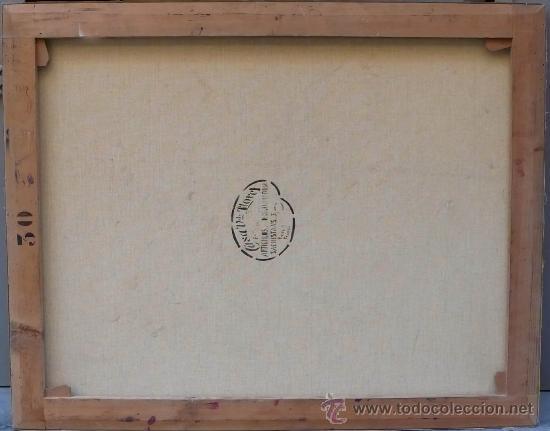 Arte: Ángel Soto. Paisaje, óleo sobre lienzo sin marco, 73x93 cm. - Foto 2 - 29065660