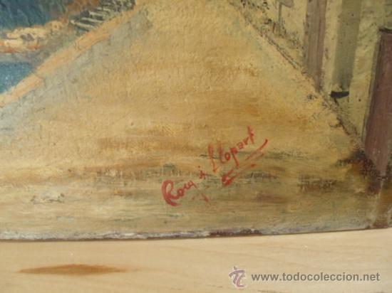 Arte: ROIG I LLOPART. PAISAJE - ÓLEO SOBRE TELA . 30 x 38 CM - Foto 3 - 29097234
