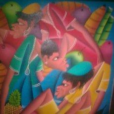 Arte: NAIF CARIBEÑO- OLEO LIENZO. Lote 86935400