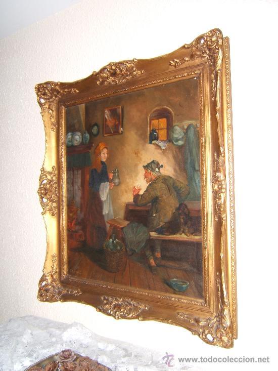 ANTIGUA PINTURA OLEO SOBRE LIENZO (Arte - Pintura - Pintura al Óleo Antigua sin fecha definida)