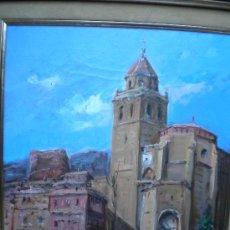 Arte: ARNEDO LINARES FRANCISCO, OLEO SOBRE LIENZO,38X46. VISTA DE ALBARRACIN. Lote 29170535