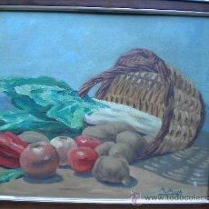 Arte: PAREJA DE BODEGONES FIRMADOS M. MOYA, OLEO PEGADO A CARTON, 46X38, ENMARCADOS. Lote 29173727