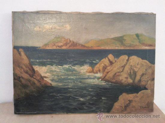 CUADRO ÓLEO LIENZO FIRMADO AUGUSTO COMAR (Arte - Pintura - Pintura al Óleo Antigua sin fecha definida)