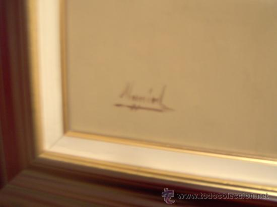 Arte: Buena pintura - Oleo sobre lienzo . ventana desnudo mujer . firmado - Foto 2 - 29178396