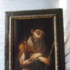 Arte: CUADRO OLEO SOBRE TABLA SIGLO XVIII CRISTO AZOTADO ECCE HOMO. Lote 29185018