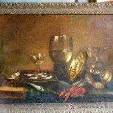 Arte: BODEGON DEL XIX SIGUIENDO MODELOS DE WILLEM CLAESZ HEDA. Lote 29203987