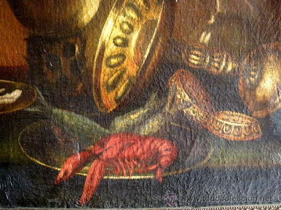 Arte: BODEGON DEL XIX SIGUIENDO MODELOS DE WILLEM CLAESZ HEDA - Foto 2 - 29203987
