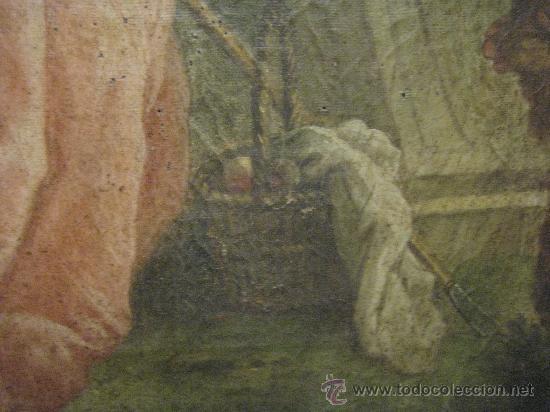 Arte: cuadro frances al oleo con escena galante finales del s. XVIII y principios del S. XIX - Foto 4 - 29220253