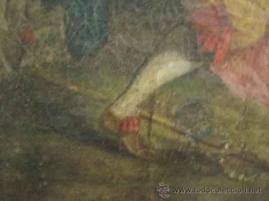 Arte: cuadro frances al oleo con escena galante finales del s. XVIII y principios del S. XIX - Foto 5 - 29220253