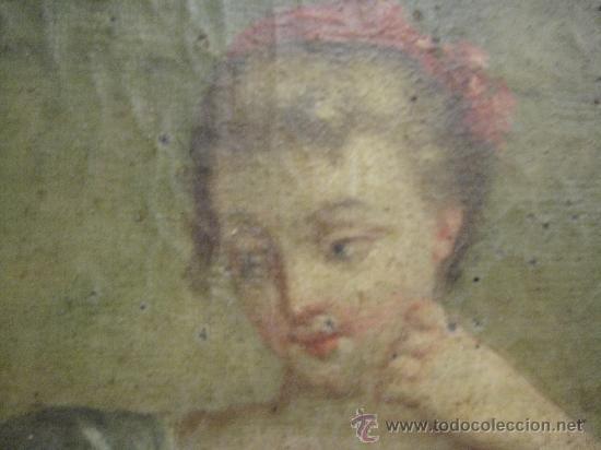 Arte: cuadro frances al oleo con escena galante finales del s. XVIII y principios del S. XIX - Foto 8 - 29220253