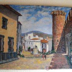 Arte: OLEO SOBRE LIENZO FIRMADO POR J. SOLER DE MORELL. TOSSA DE MAR GIRONA 1955 MD.81X60 CM.. Lote 29360283